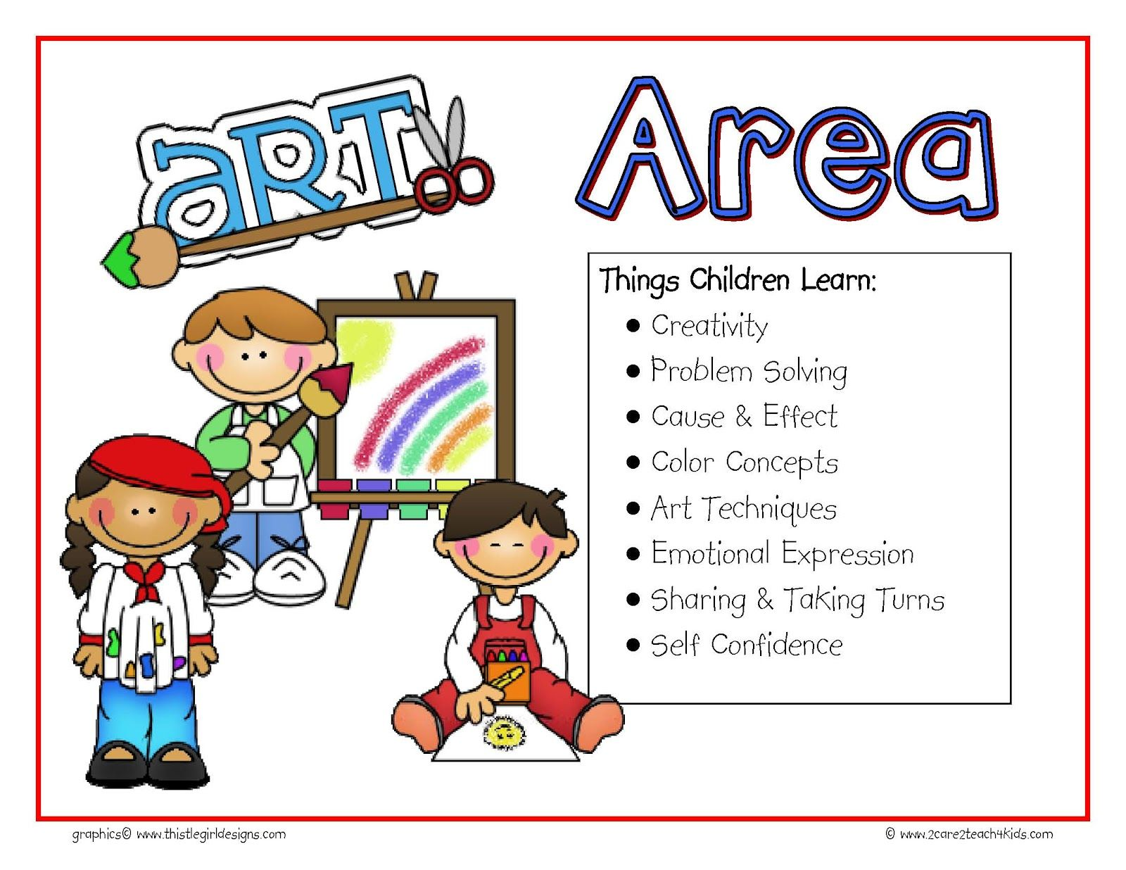 preschool free play clip art.