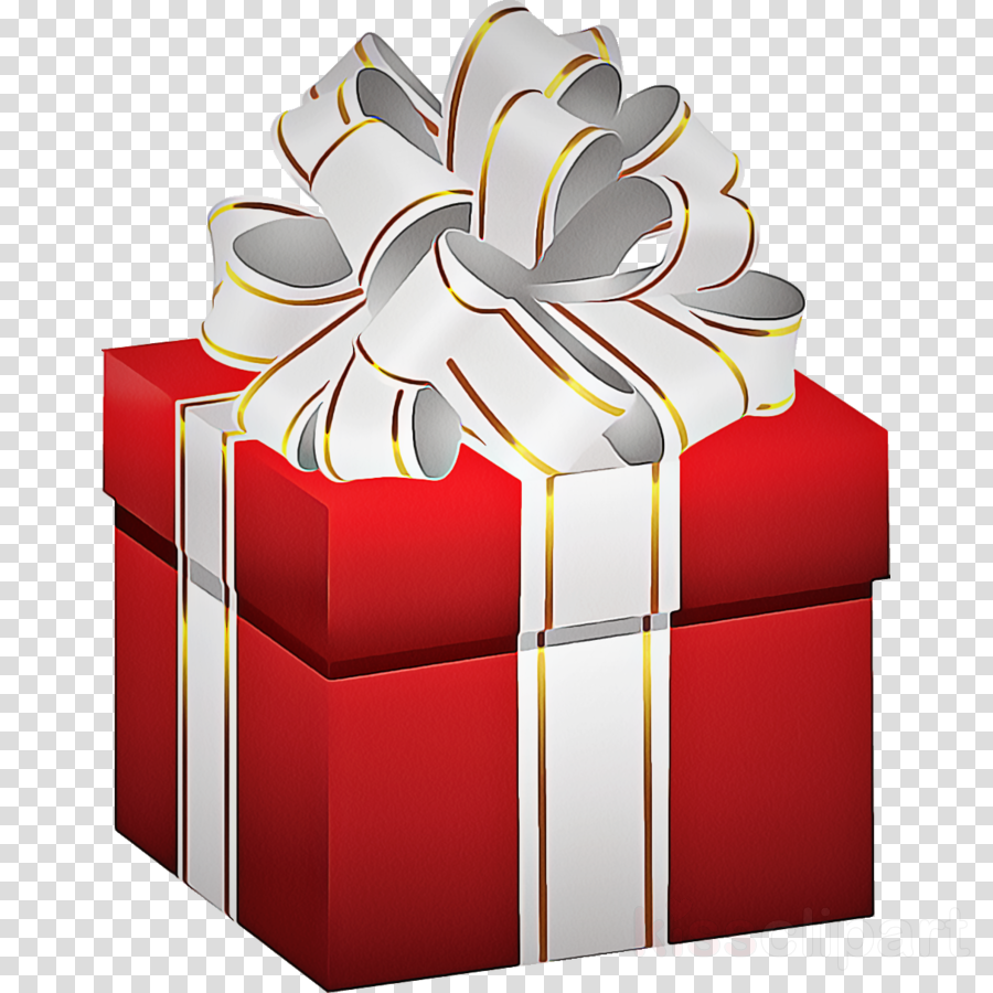 present red clip art ribbon gift wrapping clipart.