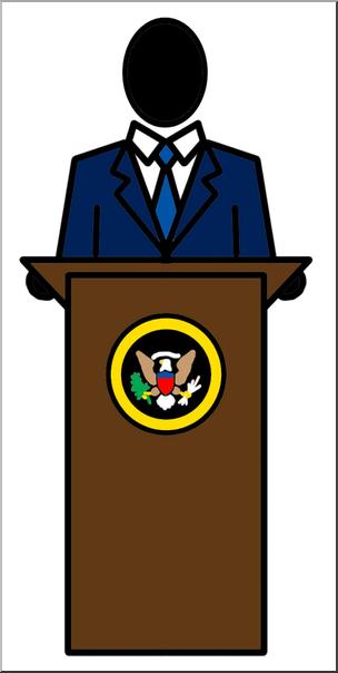 Clip Art: People: President Color I abcteach.com.