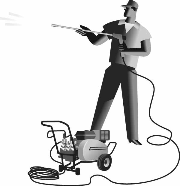 Pressure washer clipart black and white.