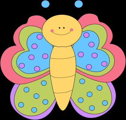 Pretty Butterfly Clip Art.