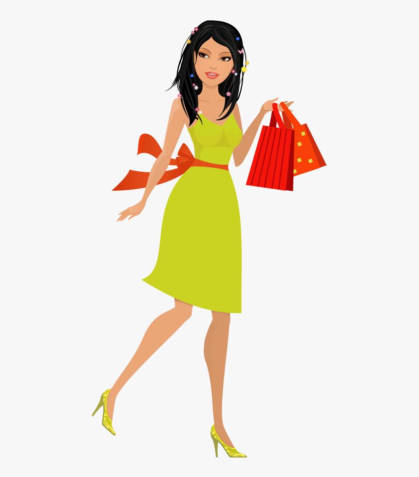 Shopping Bag Clipart Pretty Girl.