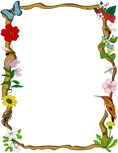 Printable nature border. Free GIF, JPG, PDF, and PNG downloads at.