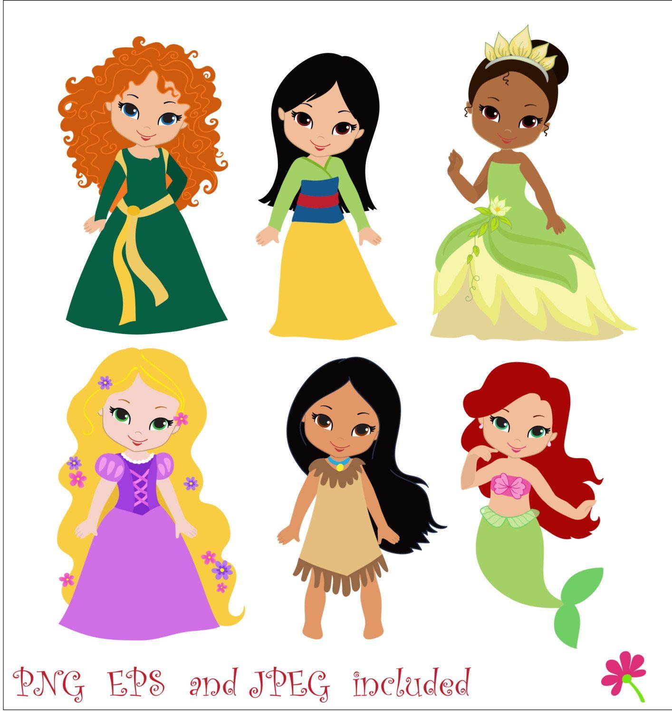Princess 03 Digital Clipart / Cute Princess by.