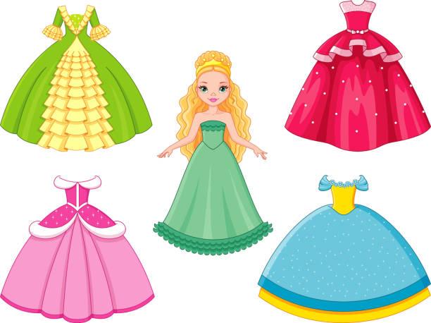Best Princess Dress Illustrations, Royalty.