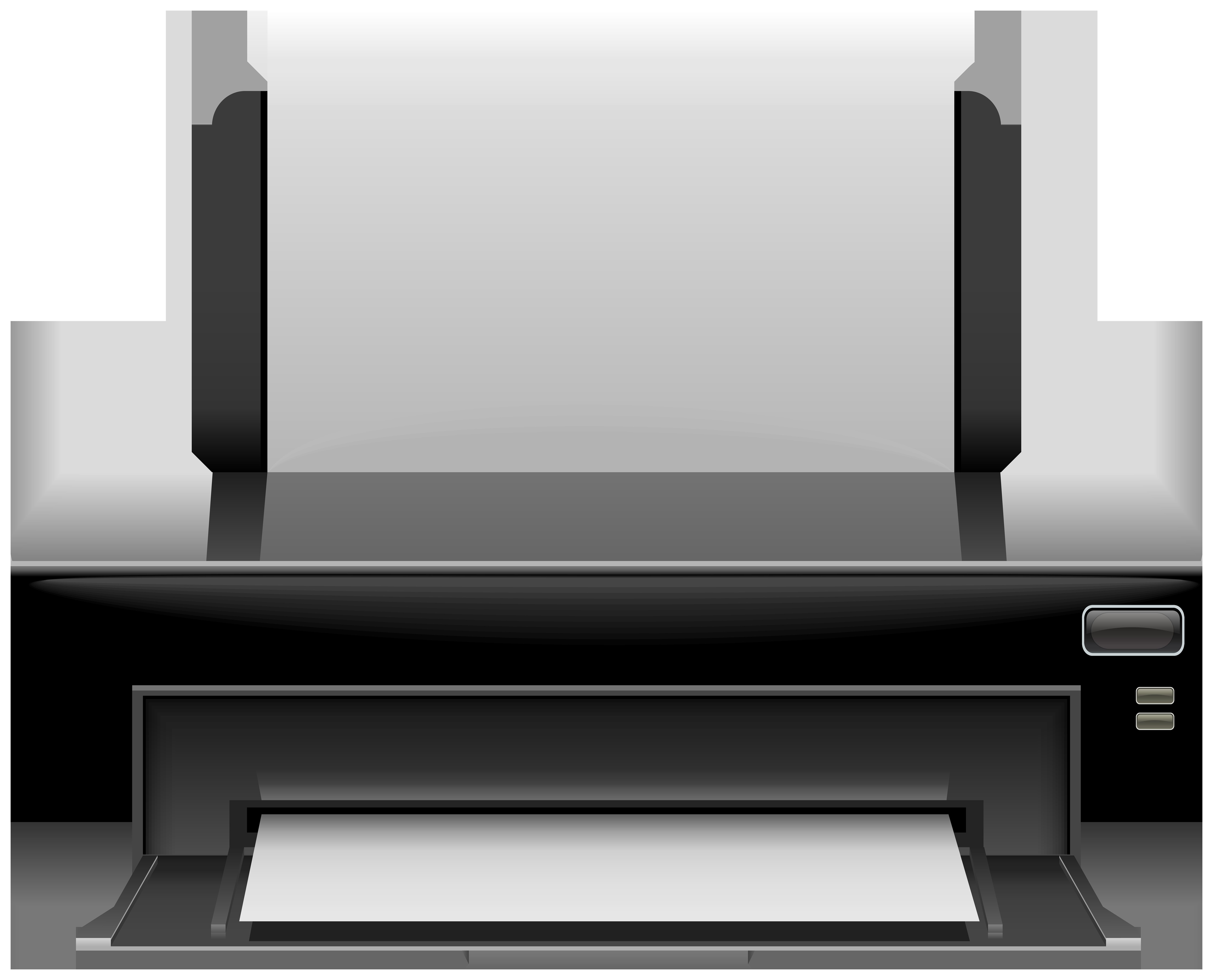 Black Printer PNG Clip Art.