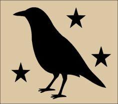 Free Primitive Crow Clipart.