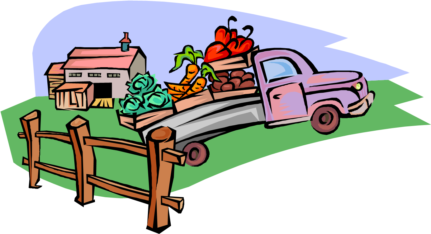 Vector Illustration Of Local Produce Fruit And Vegetable.