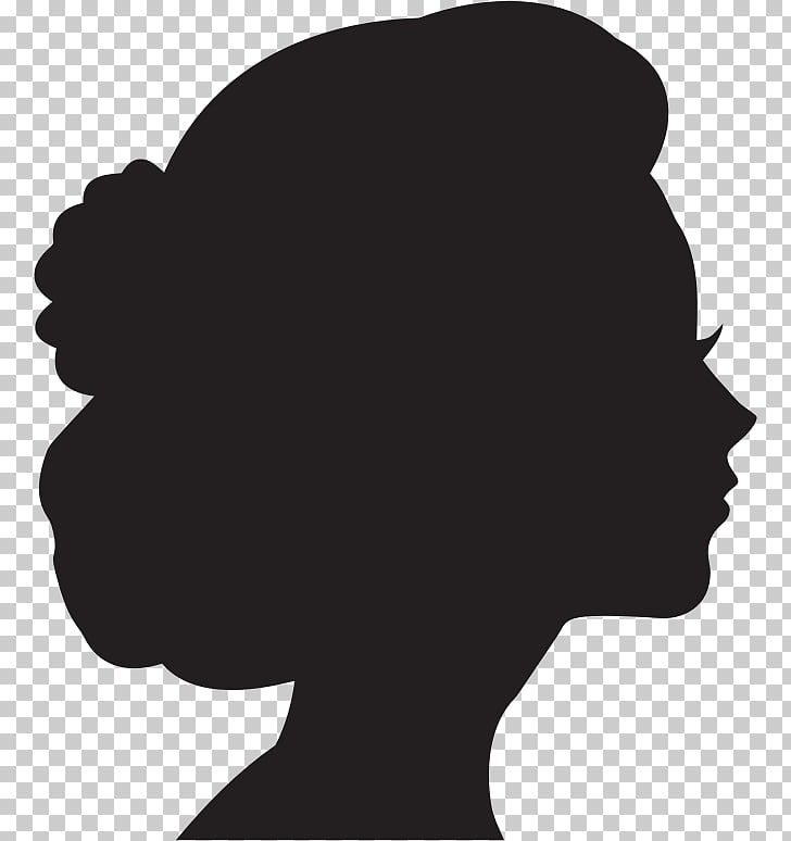 Woman Silhouette Female , side profile PNG clipart.