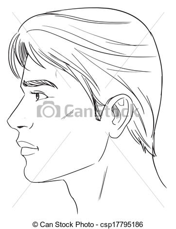 Vector of Male head.