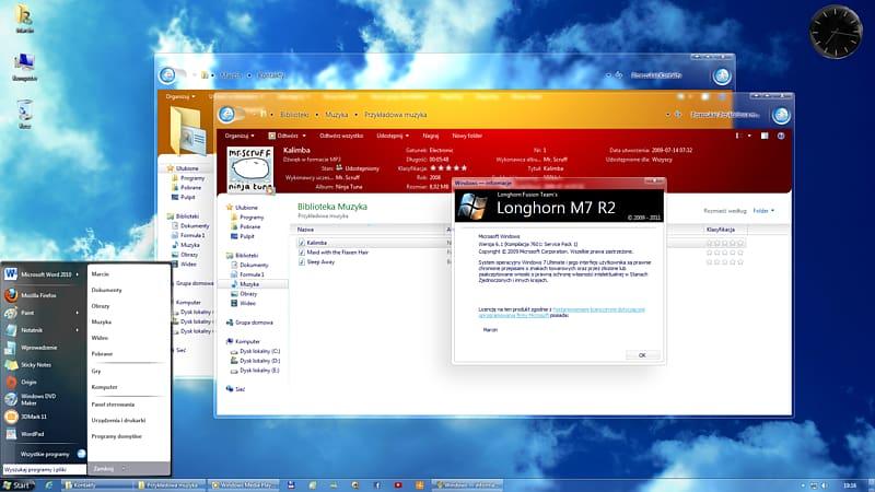 Development of Windows Vista Windows 7 Computer Software.