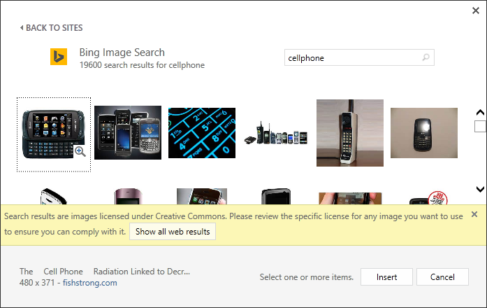 Office Clip Art now powered by Bing Images.
