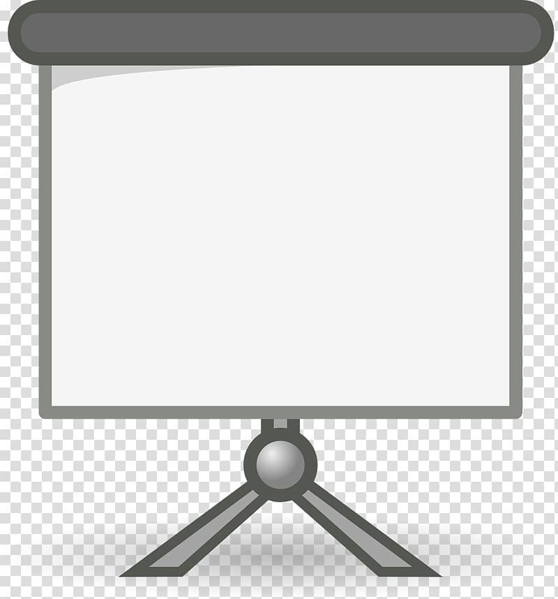 Presentation Microsoft PowerPoint , Gray projector screen.