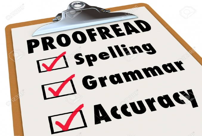 Proof Reading & Editing Services for $10.