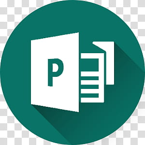 Microsoft Office long Shadow Icons, publisher.
