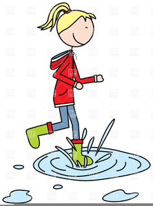Jumping In Puddles Clipart.