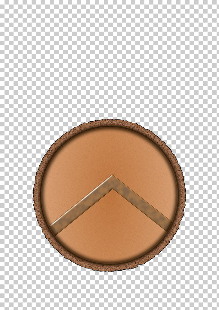 Pueblo Brown Beige, shield PNG clipart.
