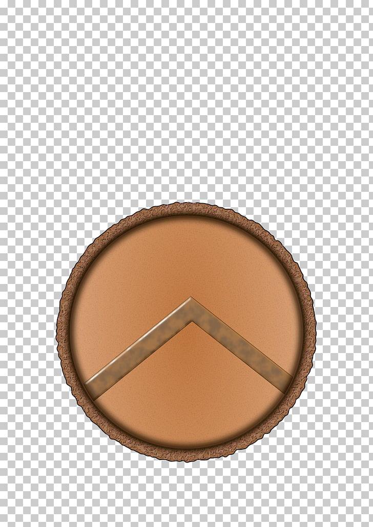 Pueblo Brown Beige, shield PNG clipart.
