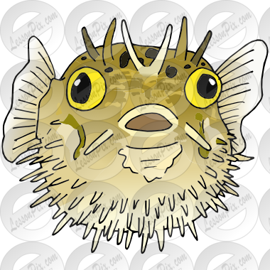 Pufferfish Picture for Classroom / Therapy Use.