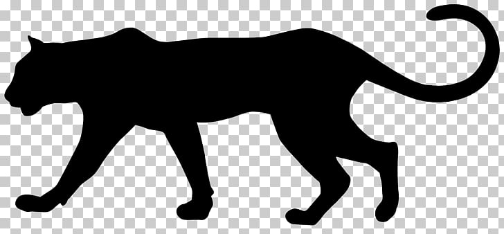 Cougar Black panther Leopard , Puma Silhouette PNG clipart.