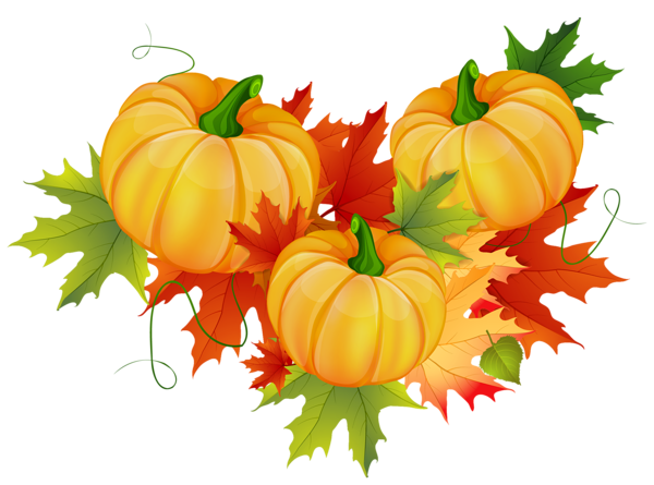 Thanksgiving Pumpkin Decoration PNG Clipart.