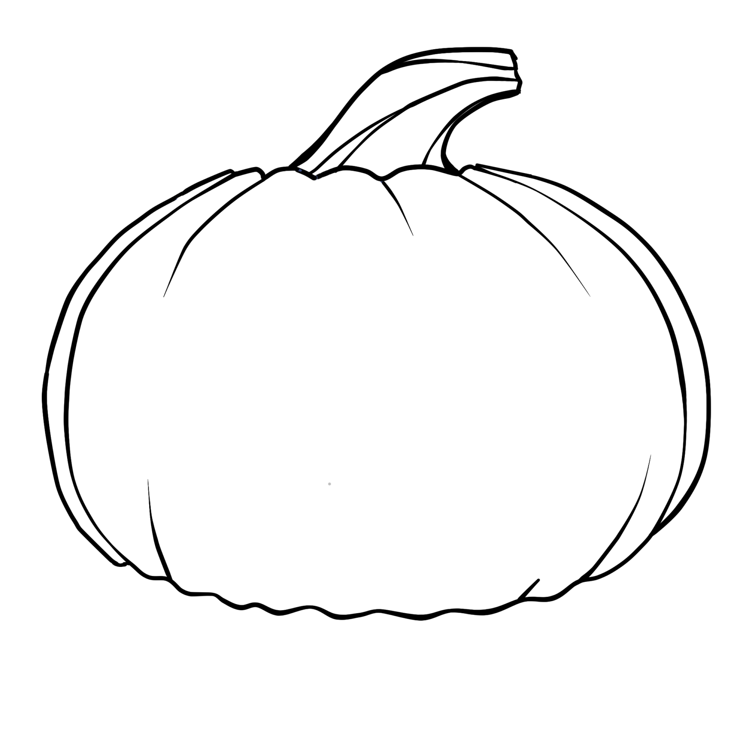 Pumpkin Outline Clipart.