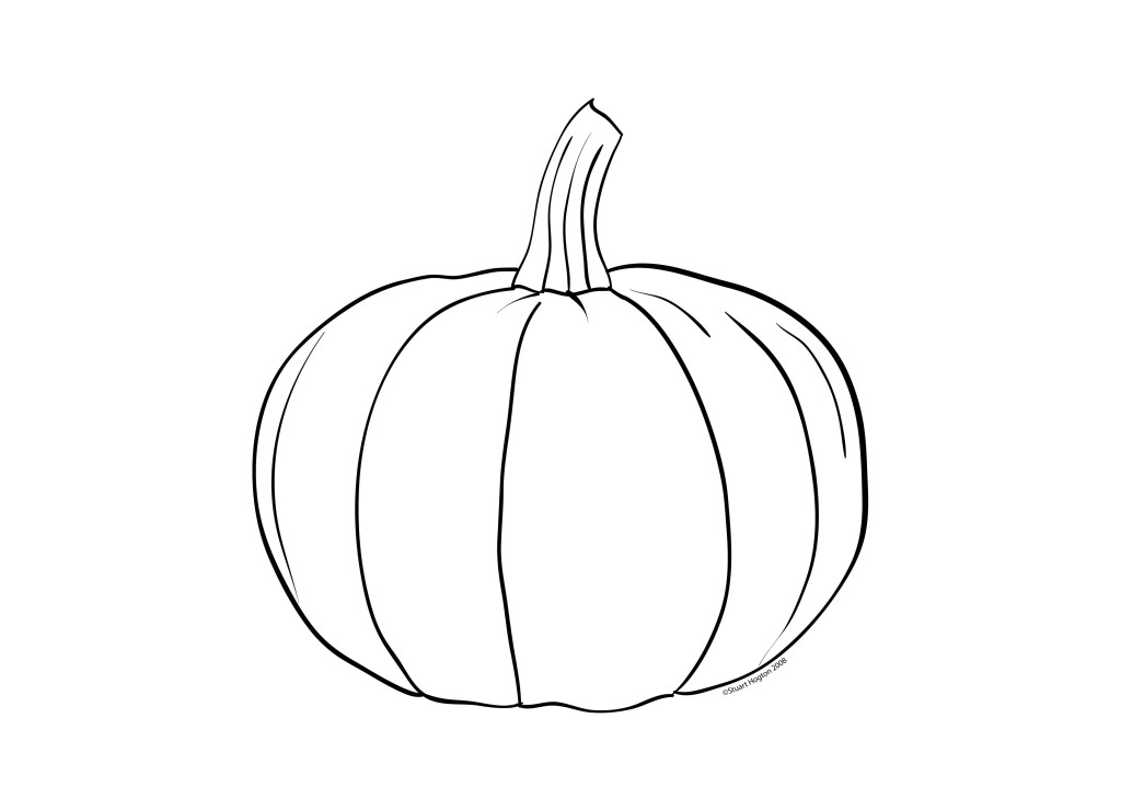 Pumpkin Outline Clipart.