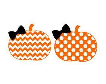 pumpkin polka dot pattern monogram frame svg dxf by palmettosvg.