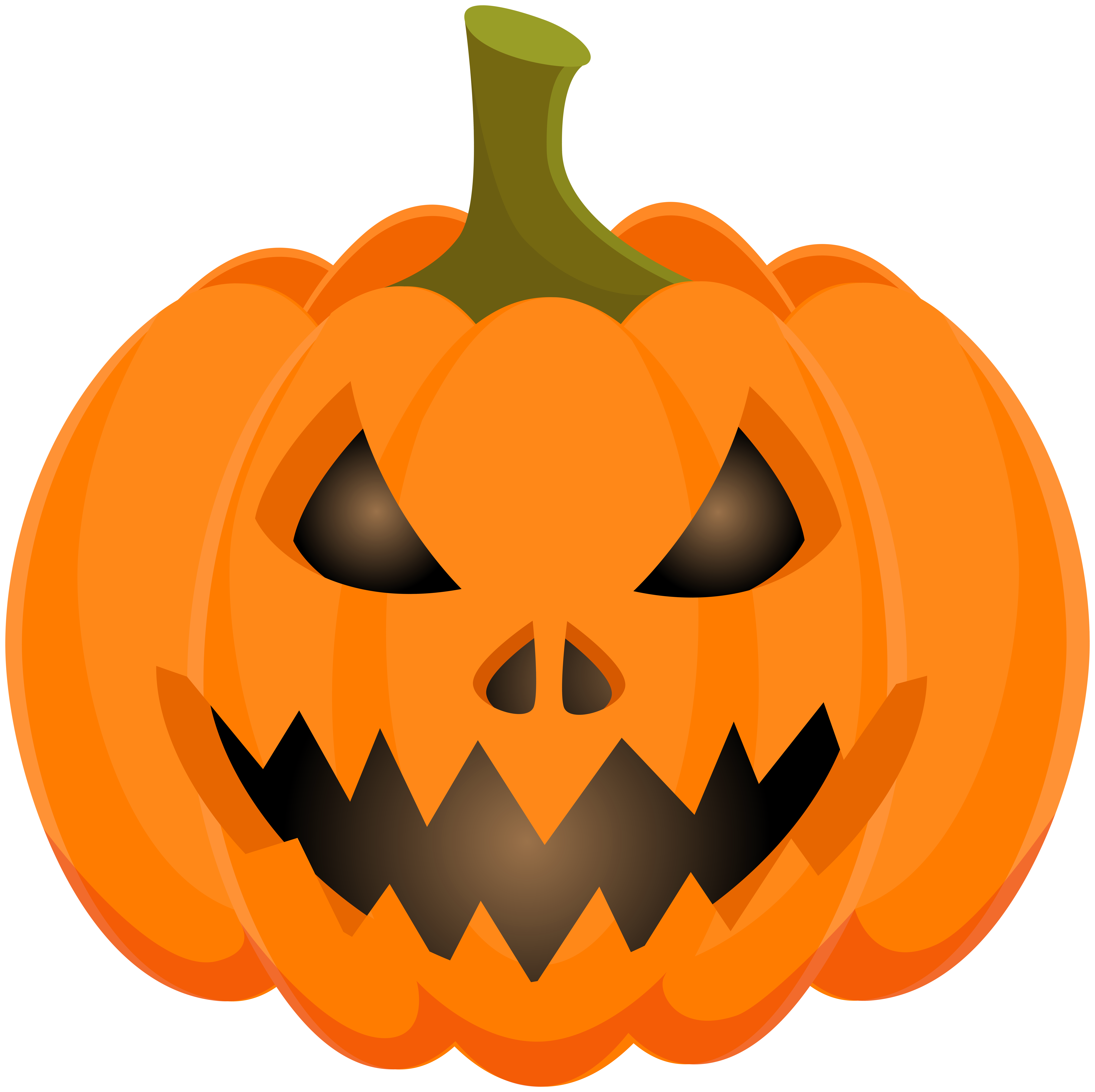 Halloween Scary Pumpkin PNG Clip Art.