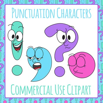 Punctuation Mark Characters Showing Who They Are Commercial Use Clipart.