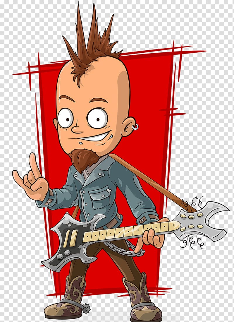 Cartoon Punk rock Rock music Illustration, Non.