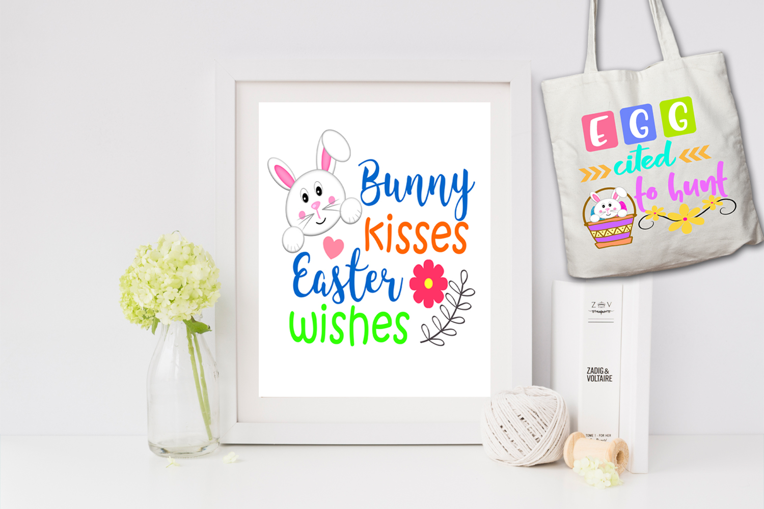 Easter Word Art Clipart.