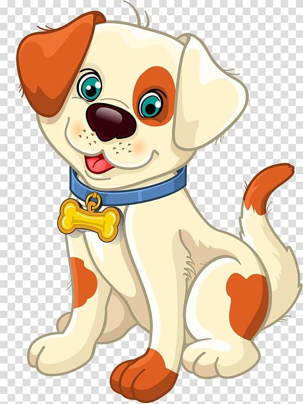 White and orange dog illustration, Beagle Dalmatian dog.