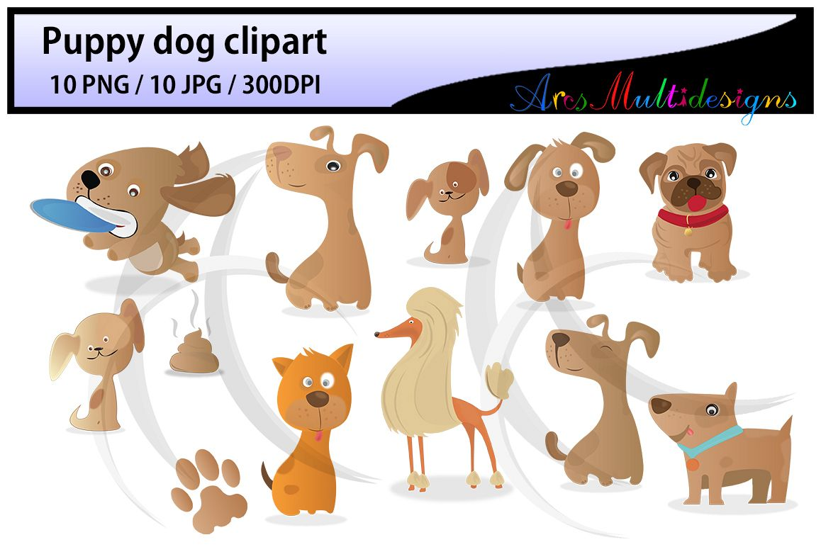 puppy dog clipart Digital Clip Art for Scrapbooking Card Making Cupcake  Toppers Paper Crafts doodle dogs puppy doodles cute dogs.