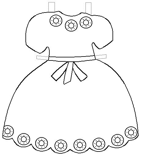 clipart purple dress cut out template