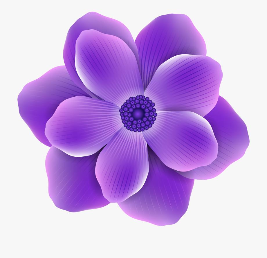 Purple Flower Clip.