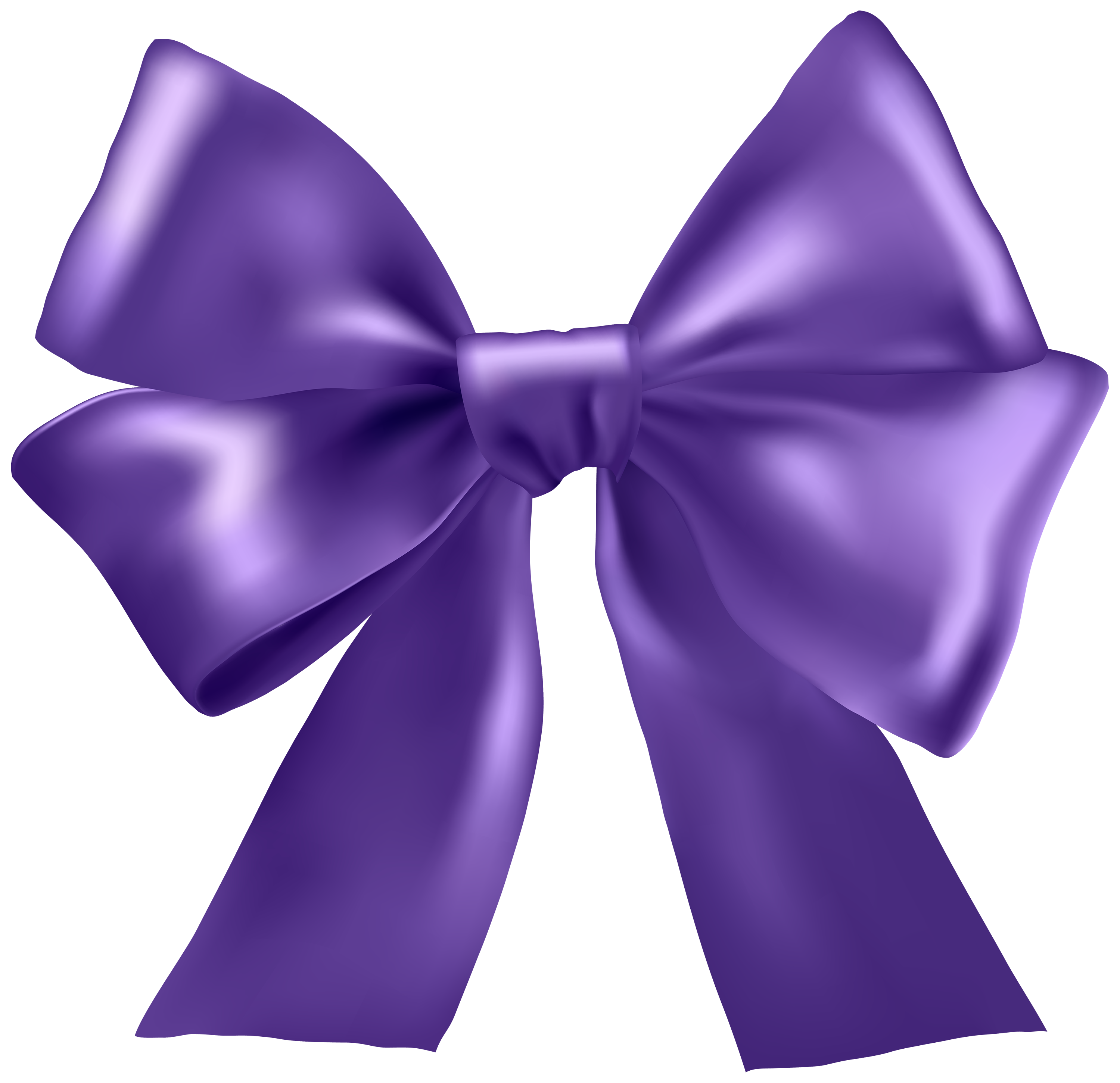 Purple Ribbon PNG Clipart.