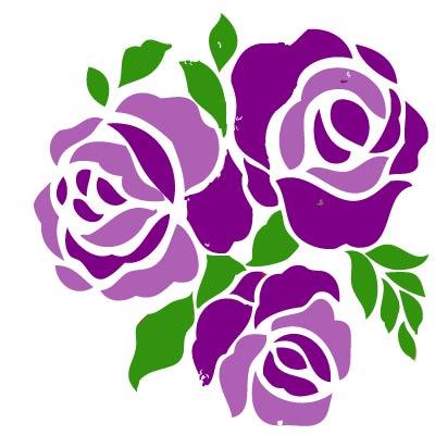 Purple roses clip art.