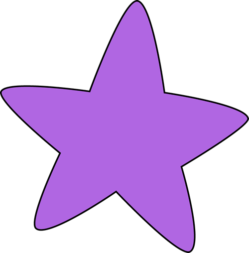 Purple star clipart 6 » Clipart Station.