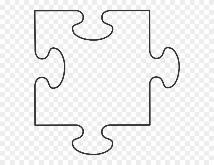 Blank Puzzle Piece Template Clipart (#192685).