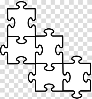 Puzzle Piece Template PNG clipart images free download.