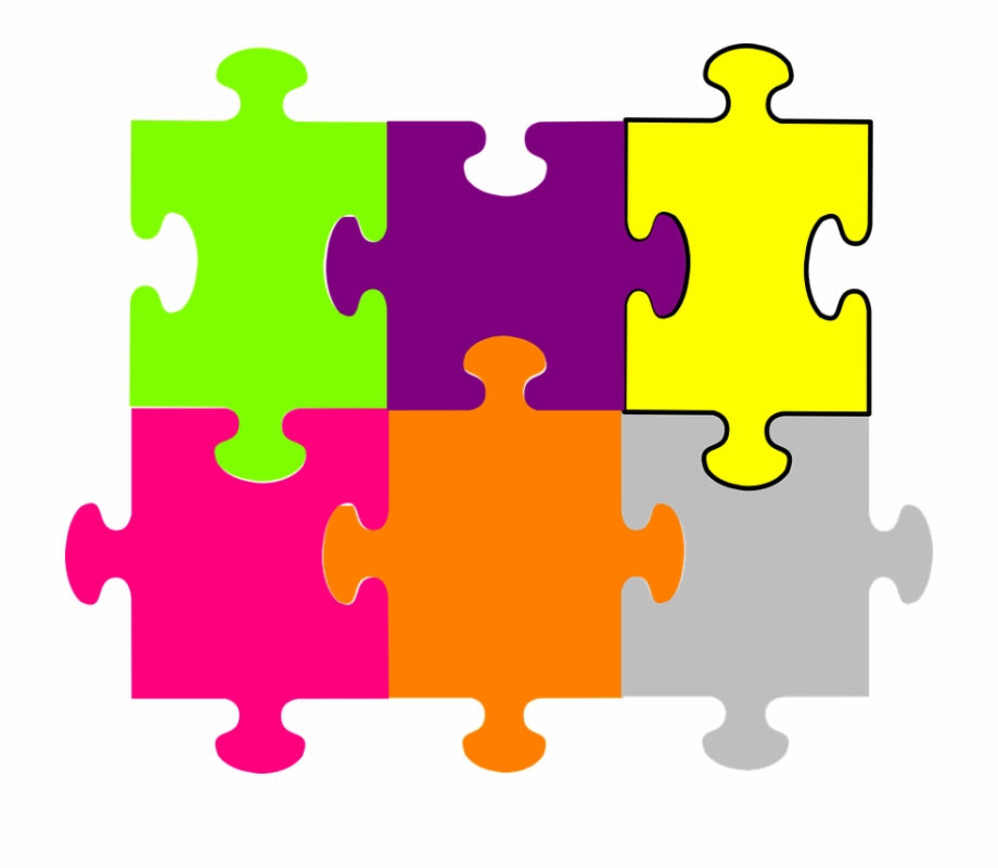 Puzzle Pieces Fit Together.