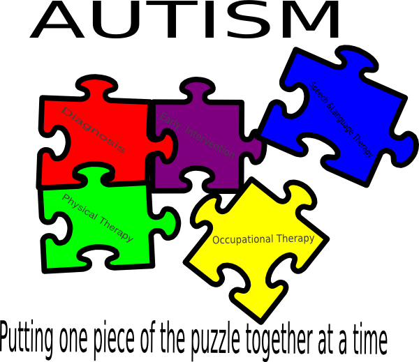 Autism Putting One Piece Of The Puzzle Together At A Time Clip Art.