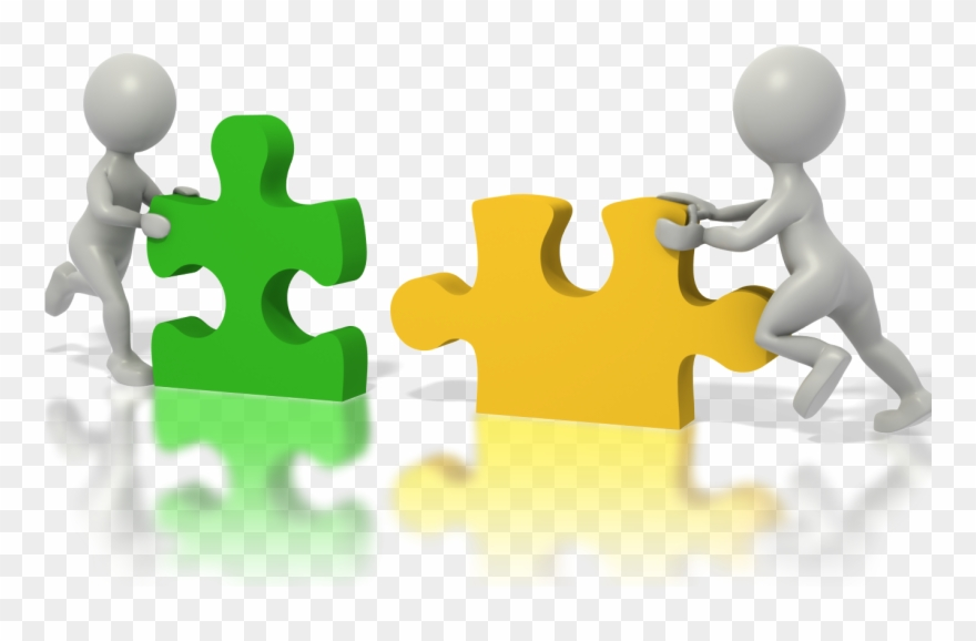 Putting Two Puzzle Pieces Together Clipart (#974493).