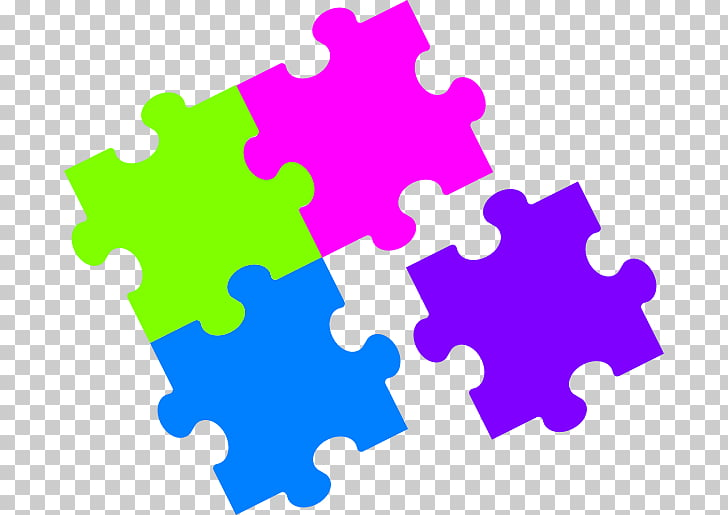 Jigsaw Puzzles , puzzle, purple, pink, blue, and green.