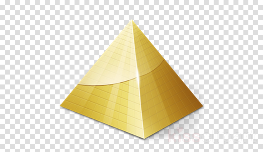 pyramid yellow cone monument triangle clipart.