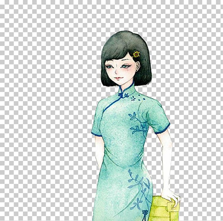 Cheongsam Clothing Designer , Girl short hair dress Republic.
