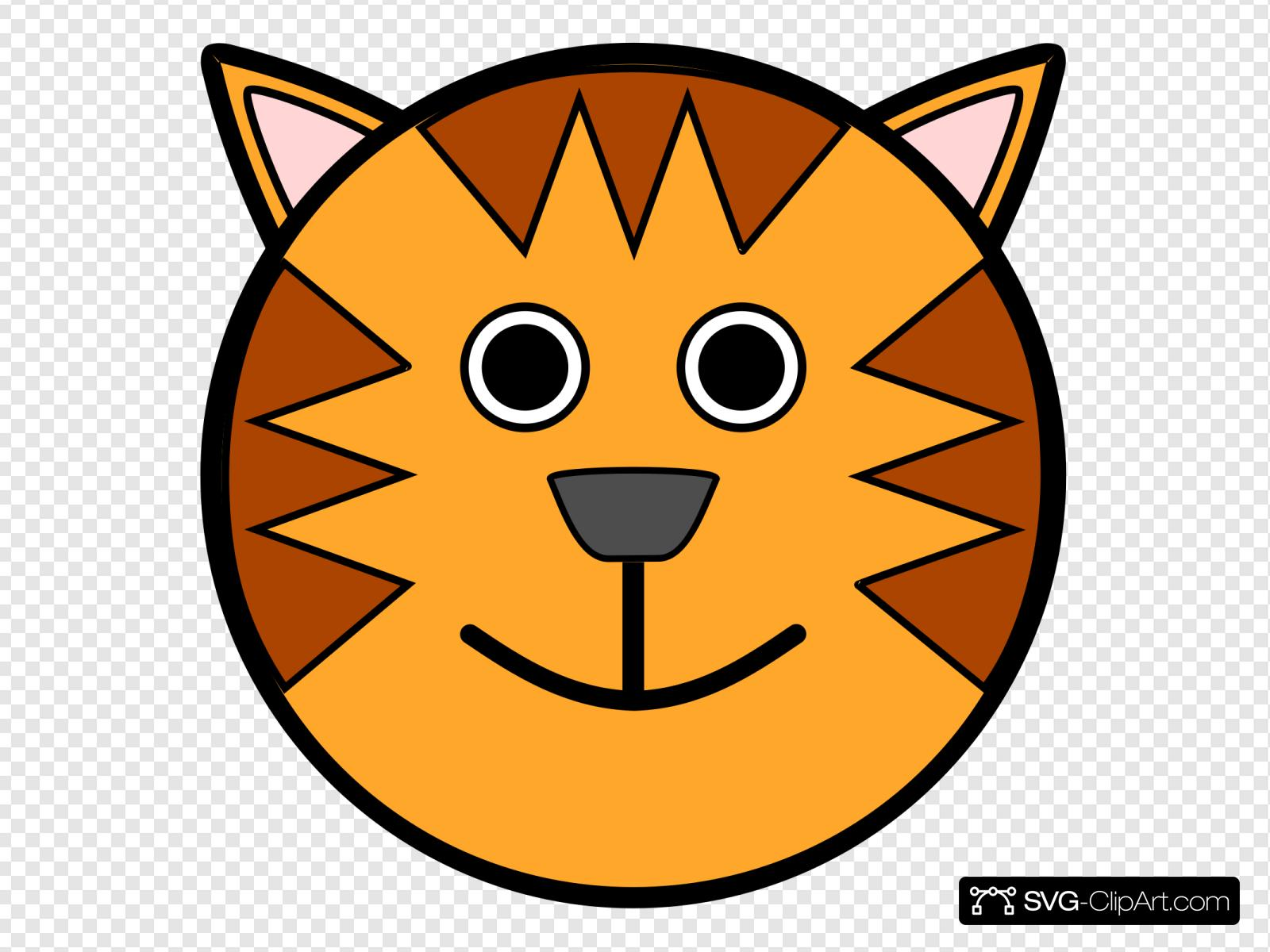 Tiger Face Clip art, Icon and SVG.
