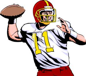 Football Quarterback Clipart.