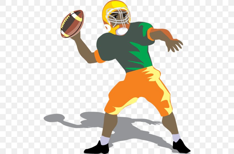 Quarterback American Football Sport Football Player Clip Art.